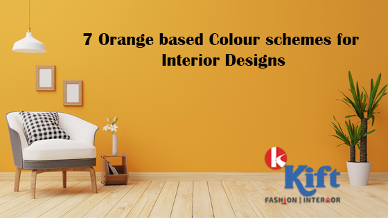 Orange based colour schemes for Interior designs