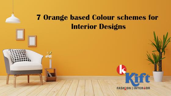 Orange based colour schemes for Interior designs