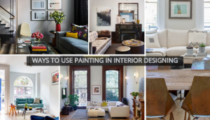 ways to use painting in interior designing